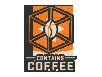 Logo Contains Coffee